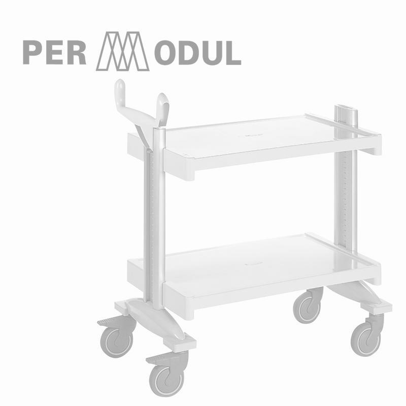 PERMODUL trolleys and shelves