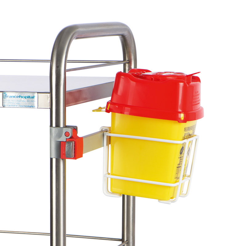 Holders for sharp waste containers
