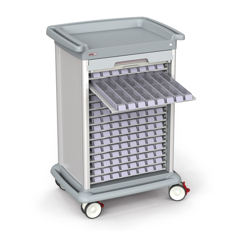 Trolleys for medication distribution