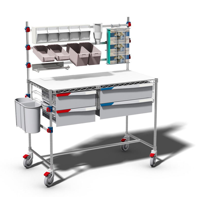Picking Station and worktop on wheels