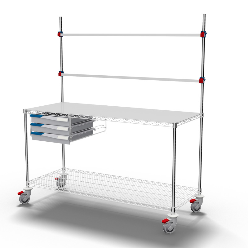 Procedure Table with 1 Set of Drawers