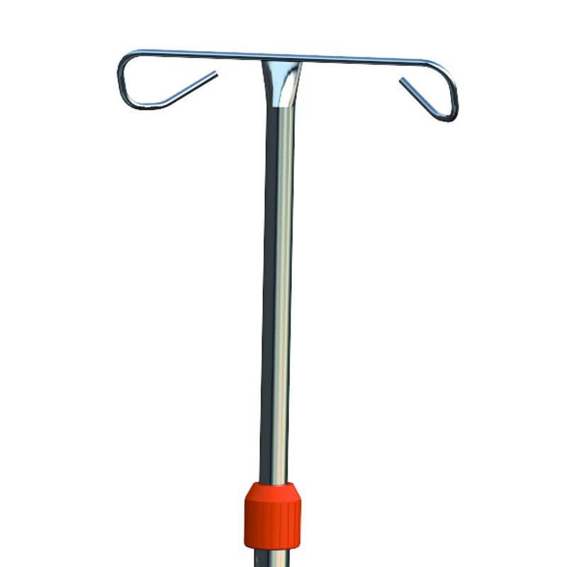 Adjustable IV Pole with 2 Hooks