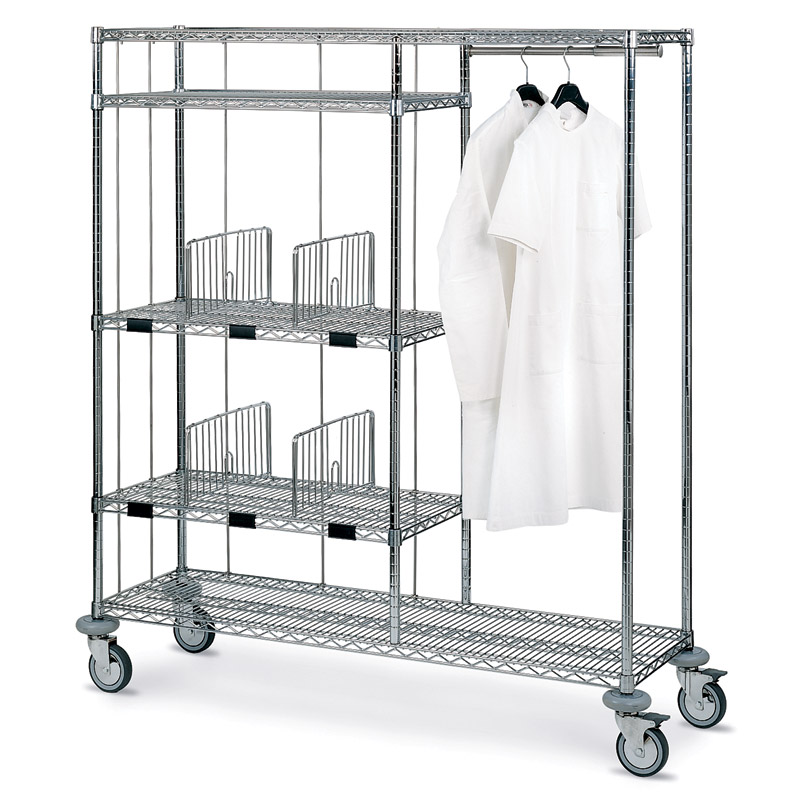 Mosys combination: clothes hanger and clean linen distribution