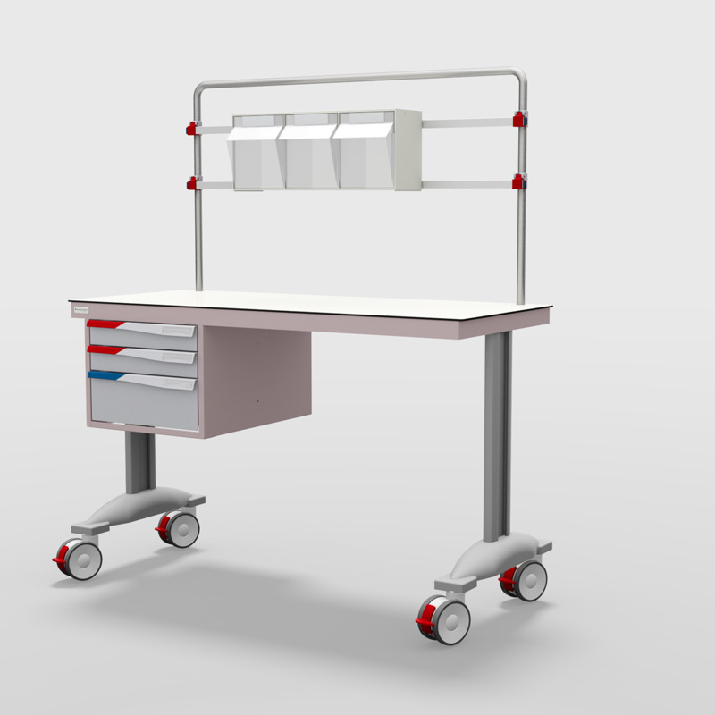PRD Procedure Table with 1 Set of Drawers
