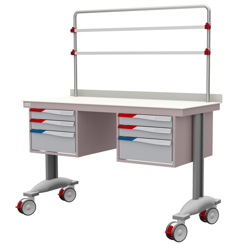 PRD Procedure Table with 2 Sets of Drawers