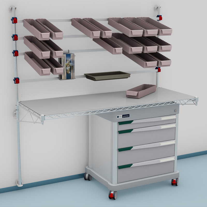 PRECISO DPT mobile drawer unit and picking station