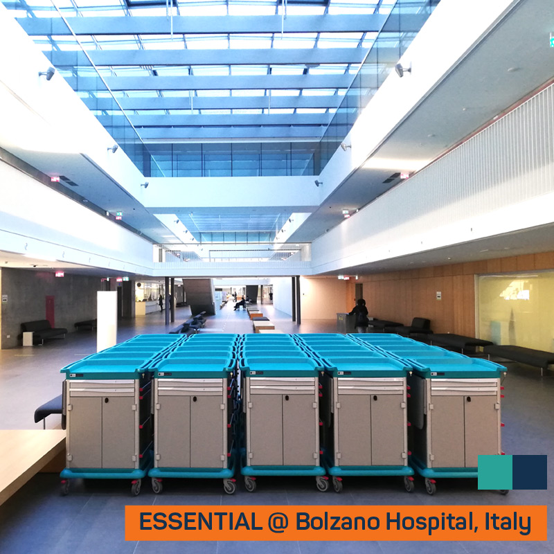 ESSENTIAL trolleys at Bolzano Hospital, Italy