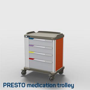 A Presto medication distribution trolley