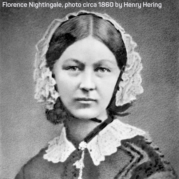 photo of Florence Nightingale, with attribution