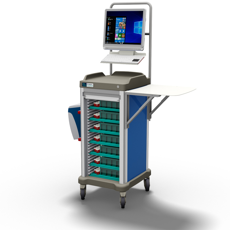 PERTE is a therapy distribution trolley: this version has a PC installed