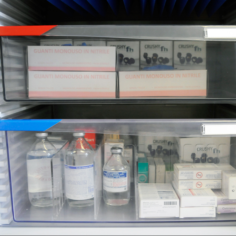 Transparent FH-Drawers: ideal to quickly identify the contents